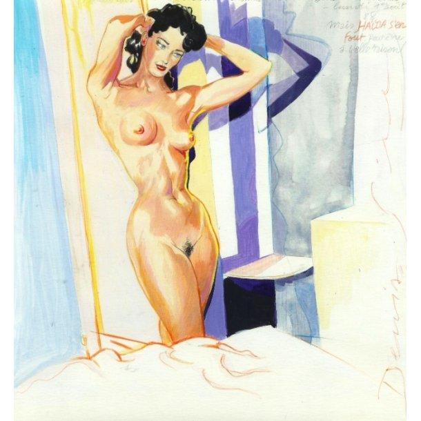 Denis Sire - Bedtime, akvarel 1988.