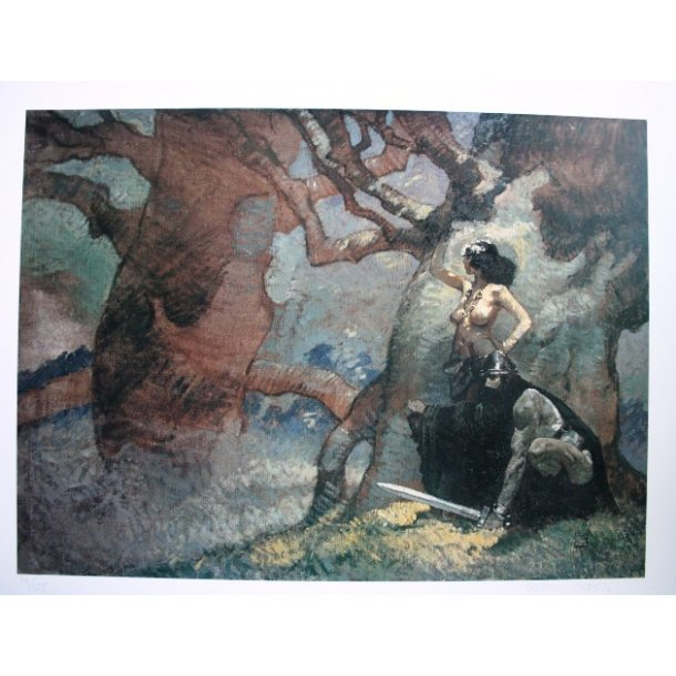 Jeffrey Jones - The Undying Wizard S/N print 1992