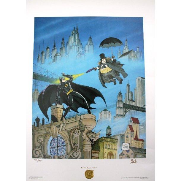 Bob Kane - Batman/Penguin, signeret 666/950.