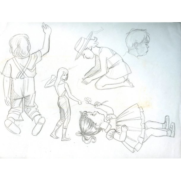 Erik Bille - blyantskitser 02