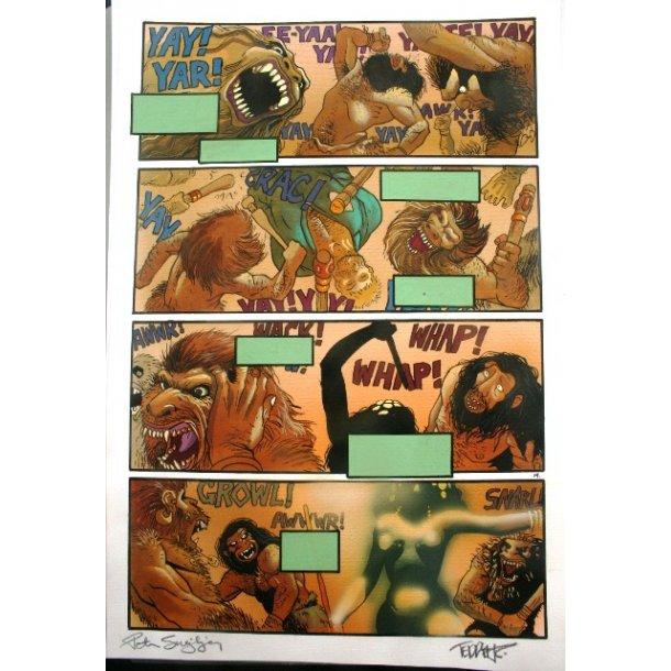 Teddy K. og P. Snejbjerg - Tarzan page signed