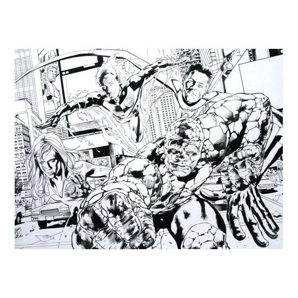 Bryan Hitch - Fantastic Four mega splash