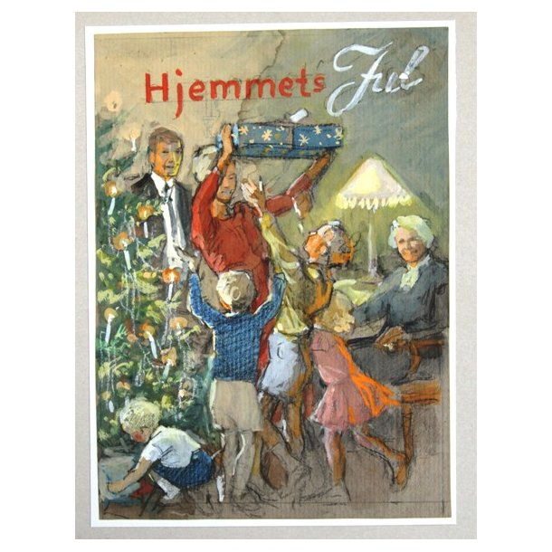 Axel Mathiesen - Hjemmets Jul, skitse
