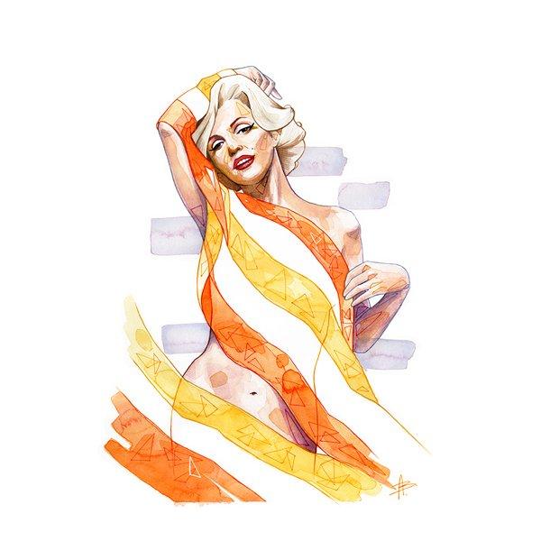 Aline Blanc - Marilyn, lærred 50 x 70