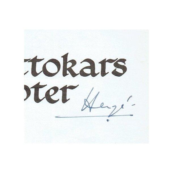 Hergé - Kong Ottokars scepter, signeret