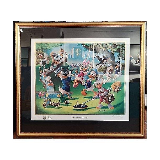 Carl Barks - Holiday In Duckburg, Gold 1/100