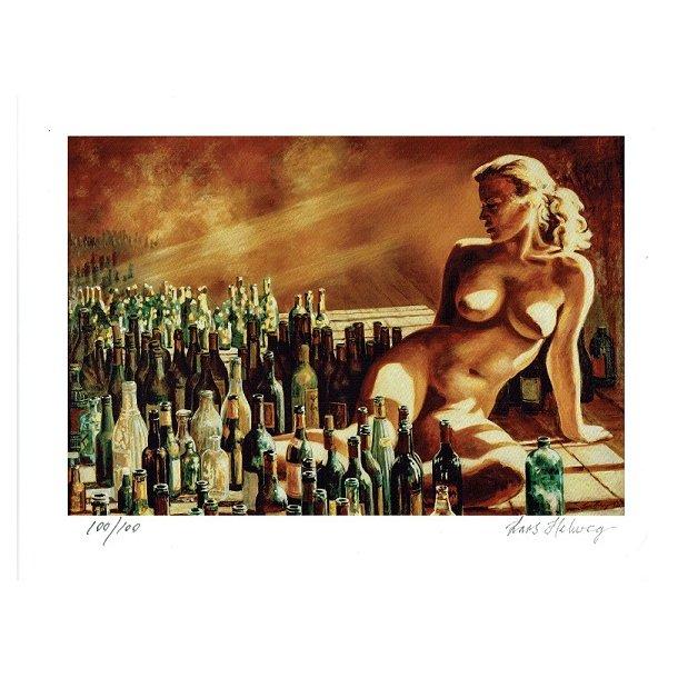 Lars Helweg - Damen med flaskerne, miniature