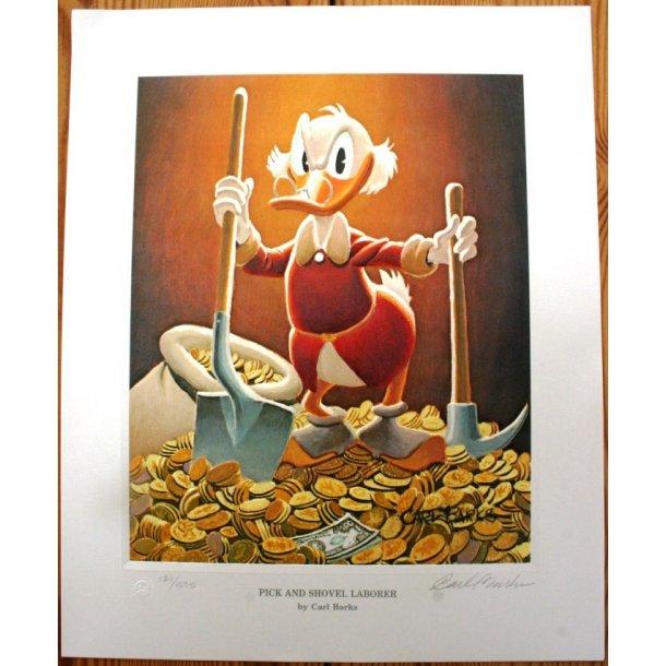 Carl Barks - Pick and Shovel Laborer, litografi.