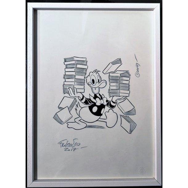 Freccero - Donald Duck with books