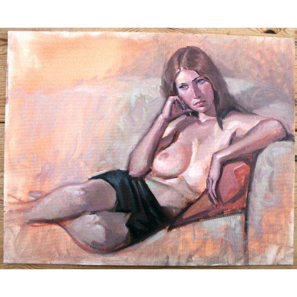 Joe Chiodo - Reclining Nude (maleri).