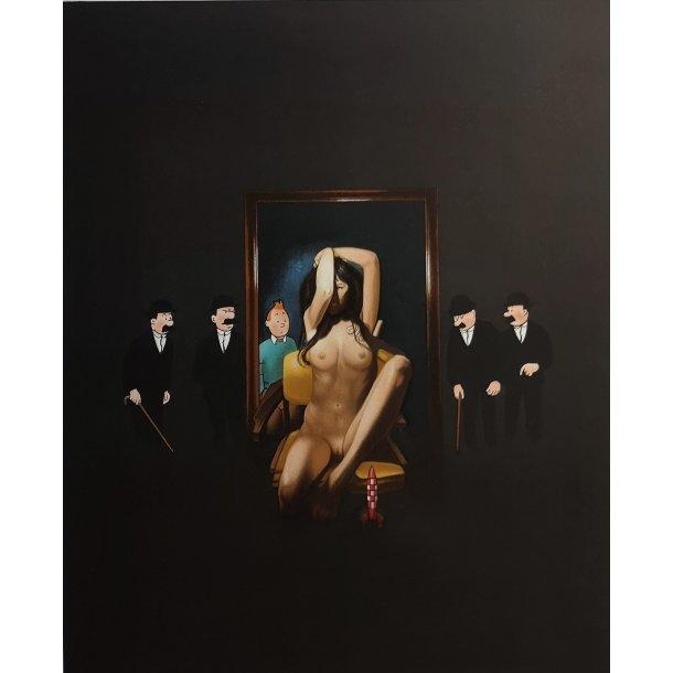 Ole Ahlberg - Behind the Mirror, litografi