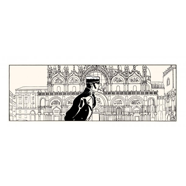 Hugo Pratt - Corto i Venedig, silketryk